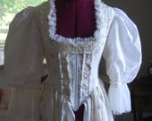 pink and white spring Marie Antoinette Victorian inspired rococo costume bodice