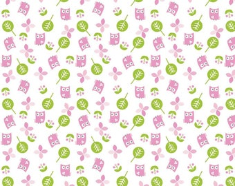 Alpine Flannel Sweet Owls F2064 By Shari Bulter-  Rare- Adorable! Perfect for Baby Quilt!