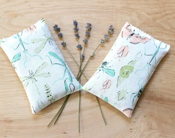 Lavender Sachet, Scented Drawer Sachets, Bugs Insects Pastel Nursery Decor