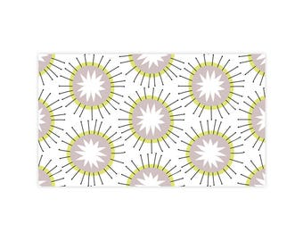 Moroccan Sun - Little Notes - Set of 10 Enclosure Cards, Envelopes, Gold Closure Stickers - Florals - Starburst - Pattern - (LN404)