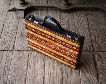 1960s Mod Briefcase Psychedelic Geometric Carpet Bag Attache Vintage From Nowvintage on Etsy