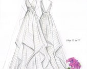 Custom Bridal Hand-Drawn Illustration