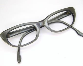 Vintage Gray Cat Eye Glasses Eyeglasses Sunglasses Frame Art Craft
