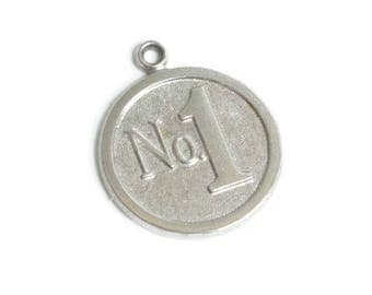 Sterling Silver Number One Charm Vintage