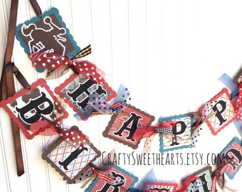 Cowboy Birthday Banner Western Party Decoration Rodeo Theme Boy's Birthday