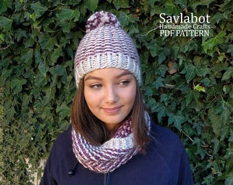The Breeze Cowl and Beanie - PDF pattern - cowl pattern - beanie pattern - hat - pdf pattern cowl and beanie no. CB001