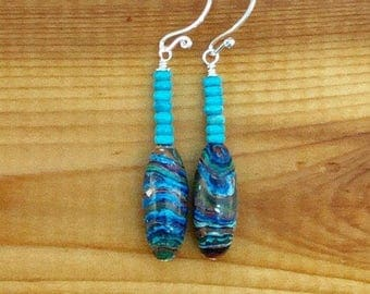 Rainbow Calsilica Earrings