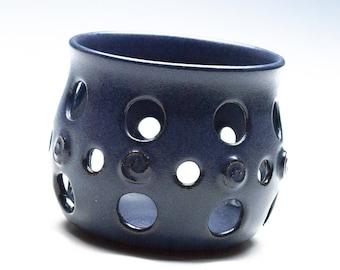 Midnight Blue Votive Holder/Ceramic Light