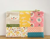 Patchwork Notions Pouch - Catitude