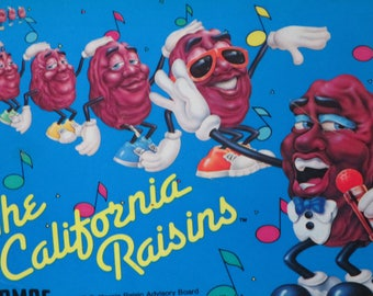 California Raisins 1987 Lunch Box~ Lunch Pail with Original Thermos by Applause
