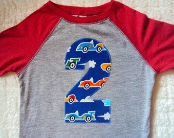 2 Year Old Birthday shirt- Race Car Shirt- Two Year Old shirt- Three Birthday Shirt- Four Year old Birthday shirt- Five Birthday Shirt