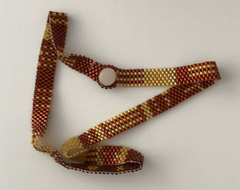Peyote Double Bracelet - Thin