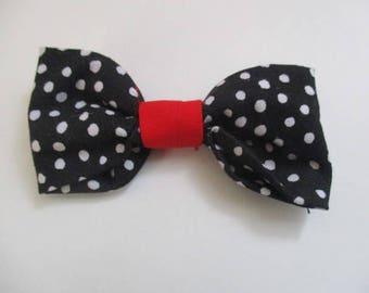 Dog Bow Tie, Pet Accessories, Collar Bow tie, Black and White Dotted, Doggy Bow Ties, Fur Baby Bow Tie #335
