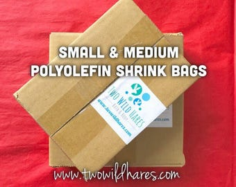 "POLYOLEFIN BAG Set, Small & Med, 4x6"" and 6x6.5"", 1000 bags, (Smell Through Plastic), 75 g, BEST Shrink Wrap on the Market"