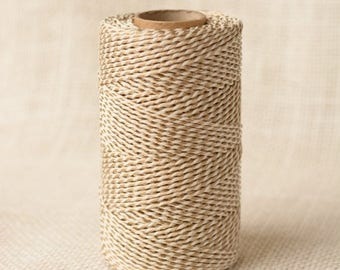25% Off Summer Sale Full Spool Heavy Twine - 100 Yards - Antique Gold Shimmer - 10 Ply Heavy Cotton Twine No. 35