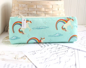 Rainbows and Unicorns Pencil Case Unicorn Pencil Pouch Rainbow Purse Organizer