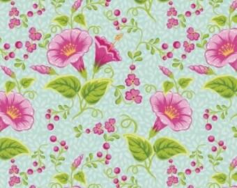 Nap Mat - Monogrammed Primavera Flowers Nap Mat with a Fuchsia Minky Dot Blanket