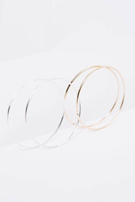 50mm gold fill hoop earrings