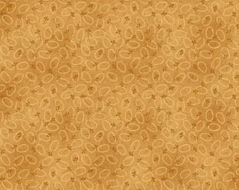 "NEW Chicks on the Run Craft 100% Cotton Quilt Fabric 44"" wide X 1 Yard -Pumpkin Egg Dots"