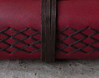 """Vintage style leather journal, 4"""" x 6"""", leather sketchbook, travel journal, diary, (2594)"""