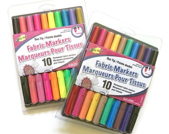 Fabric Markers, Color Me Fabric, Fabric Pens, Fabric Marker, Permanent Marker, Fabric Felt Pens, Sew Bright Creations