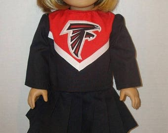 "ON SALE 18 Inch Doll Clothes, Fits 18"" American Girl Dolls,Atlanta Falcons,cheerleader outfit, ag doll, am girl, football,cheer,READY To Shi"