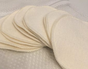 On Sale Hooter Soothers - Washable Nursing Pads - Organic Bamboo Fleece - Ultra soft & absorbant - 12 pair Plus Free wash bag