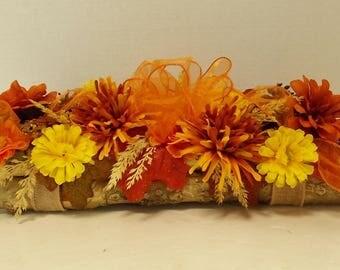 Fall Table Centerpiece, Silk Flower Arrangement