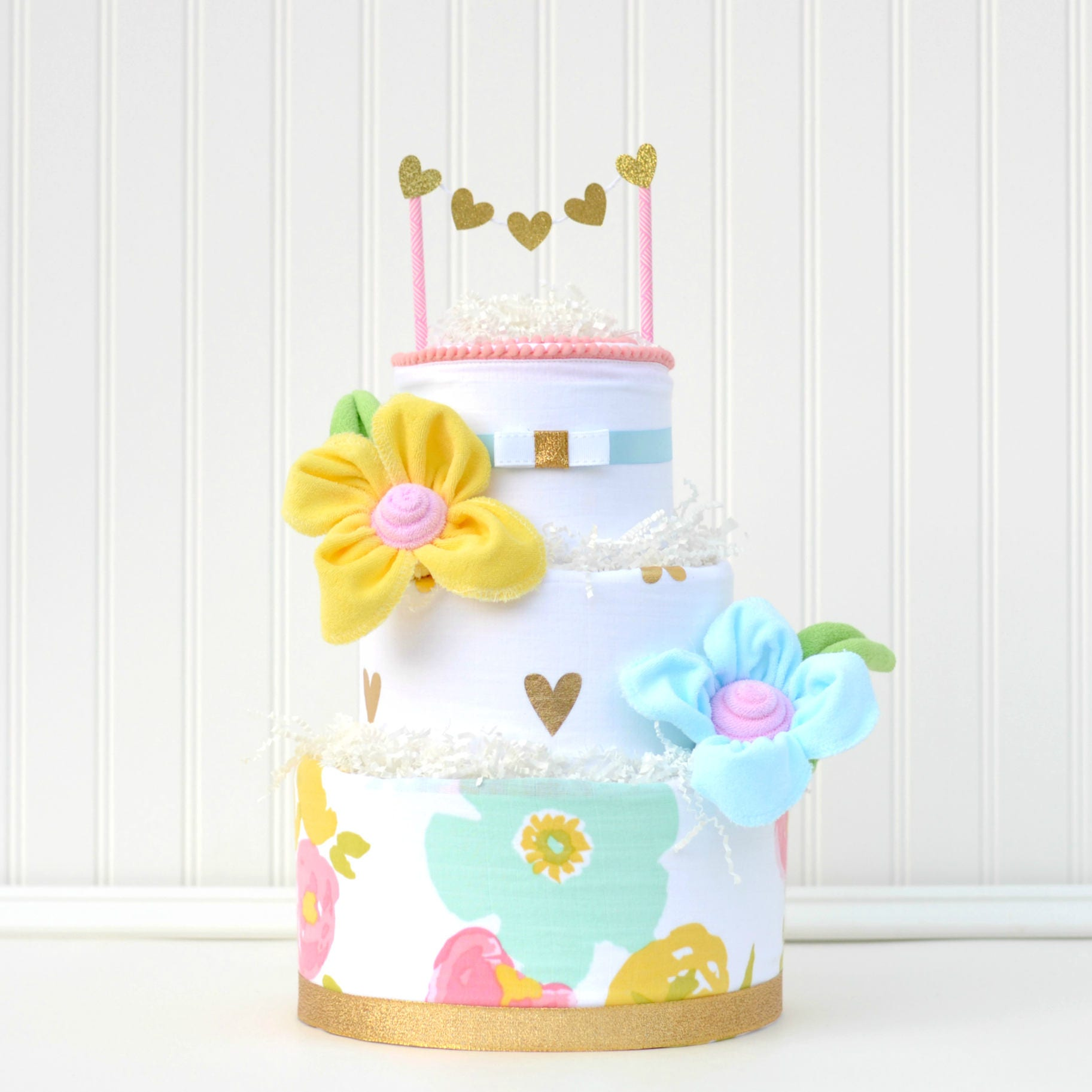 Flower Baby Shower Cake: Floral Baby Shower Decor Watercolor Floral Shower Girl