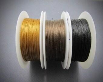 TuffCord #2, TuffCord, Tuff Cord, YOU choose color, Twisted Cord, Stiff Nylon cord, Wrap Bracelet Cord, macrame cord, Size zero, TuffCord #2