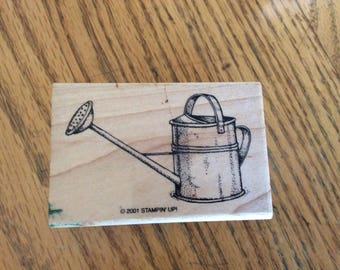 Stamp for Scrapbooking or Card Making- Watering Can -Rubber Stamp