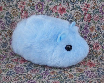 Blue Toy Hamster Cute Handmade Plushie