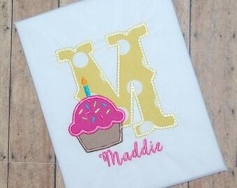 Cupcake Birthday Shirt / Girls Birthday Shirt / Cupcake Girls Bodysuit / Cupcake Shirt / Cupcake Bodysuit / First Birthday Shirt