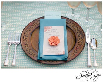 As Seem in Bridal Guide Magazine Handmade Open Paper Flowers in The Colors of Your Choice-100 2 1/2 Inch
