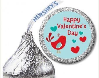 Sale The Tweetest Little Birdie Valentineu0027s Day Hershey Kiss Stickers   108  To A Sheet