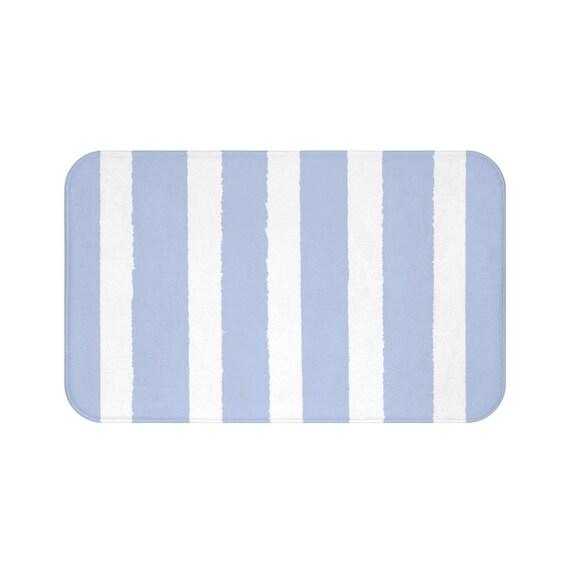 Bath Mat . Periwinkle blue Bath Mat . Striped Bath Mat . Blue Bath Rug . Blue Shower Mat . Periwinkle Rug . Blue Striped Rug
