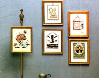 Koloniale Shoppe en taverne tekenen van Williamsburg-VA schoenmaker Kapper kaars scherm geteld Cross Stitch borduurwerk Craft patroon Leaflet 1