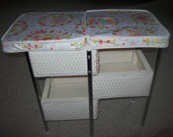 Doll Wicker Changing Table Folds for Storage Badger Basket Co