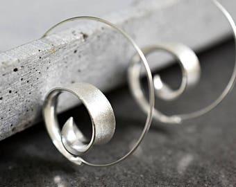 925 sterling silver spiral earrings BRUNEI II