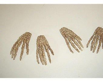 Skeleton Hands/ Halloween / Set of 4*/Holiday/ Craft Supplies*