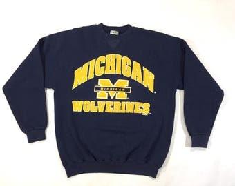 University of Michigan Wolverines crewneck sweatshirt