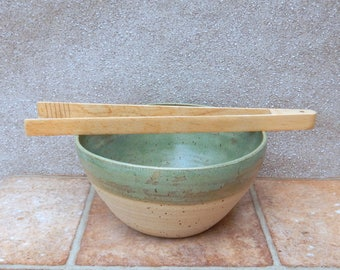 Oven to table serving salad bowl dish Hand Thrown In Stoneware Handmade Pottery Wheelthrown ceramic