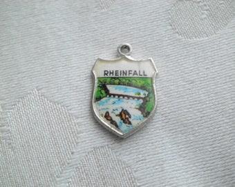 Vintage Rhine Falls Rheinfall Germany Travel Souvenir Shield Charm
