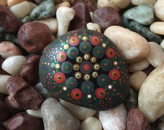 Handpainted Mandala Stone