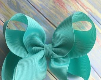 "Pick 6- Medium Large Hair Bows - Choose Colors - 1.5"" Ribbon - 4 inch Bows ~ Matilda Jane Once Upon a Time Match ~ School Uniform ~"