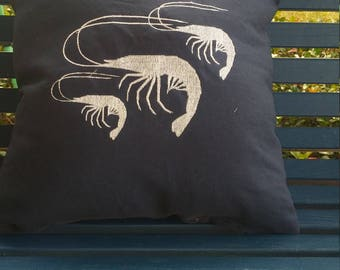 Embroideted Shrimp Pillow