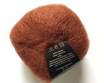 S. Charles Collezione Luna #14 Rust - Sparkly SuperKid Mohair Silk Yarn 25g 232yds