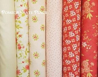 Ella Ollie Fig Tree & Co .. 6 fat quarter bundle... Moda Fabrics