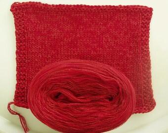 RED SILK Heather -- DK Weight -- Silk/Cotton/Merino yarn (100 gr /240 yards)