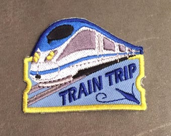 Train Trip Merit Badge Train Ride Traveling Amtrak Trains Planes And Automobiles Bullet Train Adult Scout Patch